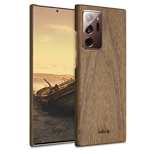 kalibri Cover Compatibile con Samsung Galaxy Note 20 Ultra in Legno Naturale e aramide - Wooden Case Porta-Cellulare Rigida - Custodia Protettiva Ultra-Slim