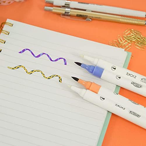 Marcador Artístico, Dual Magic, Brw, 88113, Brush Pen, 6 Cores