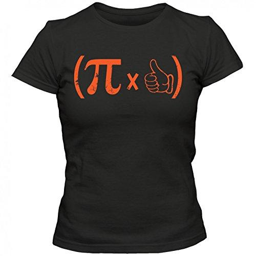 Pi #1 T-Shirt | Mathe | Matheass | Kreiszahl | Frauen | Shirt, Farbe:Schwarz (Deep Black L191);Größe:L