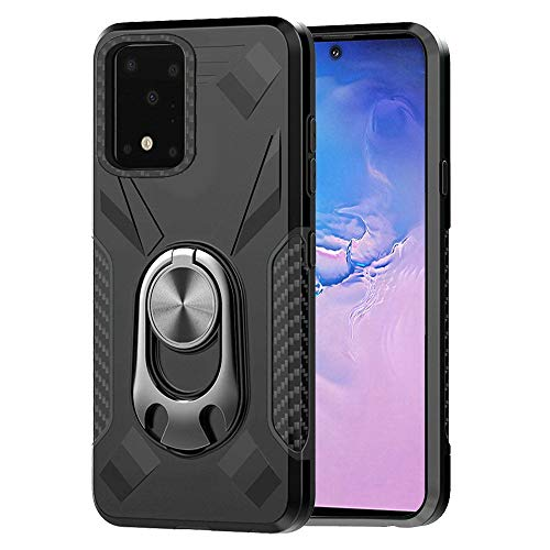 Bemz Samsung Galaxy S20+ Plus, 6.7 inch [Dual Series] Case: Bottle Opener Stand Car Mount Ready Heavy Duty Armor Rugged Cover with Atom Wipe - Black