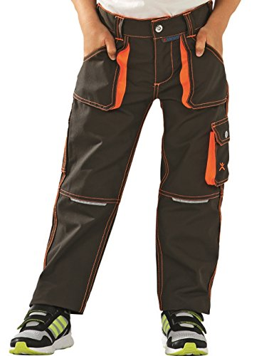 Planam 6112 Junior Bundhose Oliv/orange (146/152)
