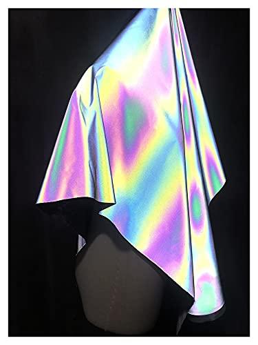 VIAIA Ropa Reflectante de Alta pureza Colorido Ropa de Moda Ropa de Moda Diseñador de Rompevientos Tela Futuro Tecnología Colorida Luminosa (Color : Non Elastic)