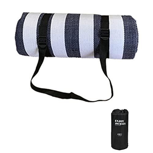 Lanyin Manta de picnic al aire libre con bolsa de almacenamiento y mango impermeable rectangular cuadrado plegable playa para camping