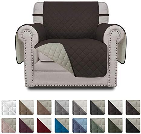 Best Easy-Going Sofa Slipcover Reversible Chair Cover Water Resistant Couch Cover Furniture Protector wit