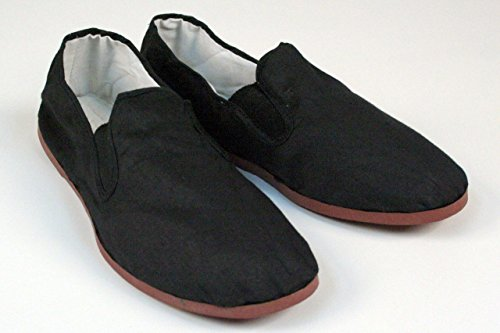 BlackBeltShop Rubber Sole Kung Fu Tai Chi Shoes Size Men's 10 1/2 to 11