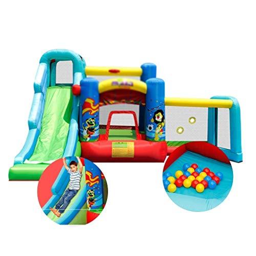 BSJZ Inflables Castillos hinchables Zona de Juegos para niños Los niños Deslizan la Cama Plegable Cuadrada al Aire Libre Adecuada para Parques, natación