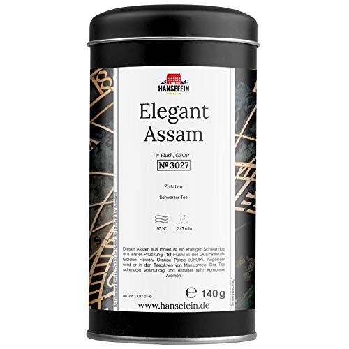 Hansefein Elegant Assam Schwarzer Tee 1st Flush GFOP 140g in Aromadose