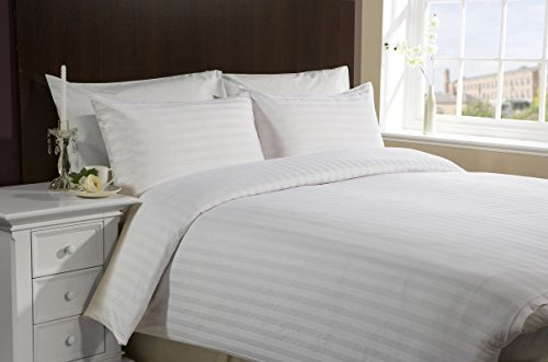Hachette] 3PC [SATIN STRIPE/KING SIZE] 400 THREAD COUNT 100% EGYPTIAN COTTON DUVET COVER BEDDING BED SET WITH PILLOWCASES 400TC
