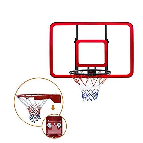 CHENXU Wall Mounted Basketball Hoop Set Basketball Hoop,Indoor Indoor Adult Children Hanging Wall Backboard, Outdoor Wall PC Board Training Basketball Hoop(Red,Black)