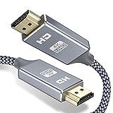 HDMI ケーブル 4k 60hz 2m hdmi 2.0規格 HDR/3D/18Gbps 高速イーサネット対応 パソコンの画面をテレビに映す Apple TV,Fire TV Stick,PS4/3,Xbox, Nintendo Switchなど適用