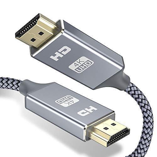 HDMI ケーブル 4k60hz 1.8m hdmi 2.0規格 HDR/3D/18Gbps 高速イーサネット対応 パソコンの画面をテレビに映す Apple TV,Fire TV Stick,PS4/3,Xbox, Nintendo Switchなど適用