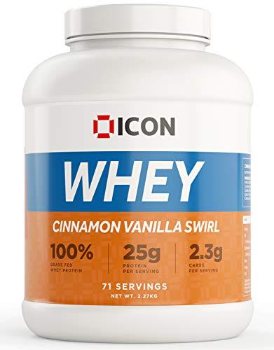 ICON Nutrition Whey Protein Powder 2.27kg, 71 Servings - Cinnamon Vanilla Swirl
