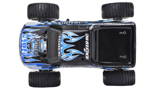 1/10 2.4Ghz Exceed RC Infinitve Nitro Gas Powered RTR Off Road Monster 4WD Truck Fire BlueSTARTER KIT Required and Sold Separately
