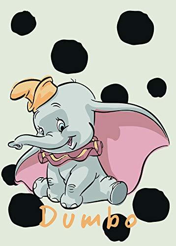 Disney Wandbild von Komar | Dumbo Dots | Kinderzimmer, Babyzimmer, Dekoration, Kunstdruck | Größe 50x70cm (Breite x Höhe) | ohne Rahmen | WB026-50x70