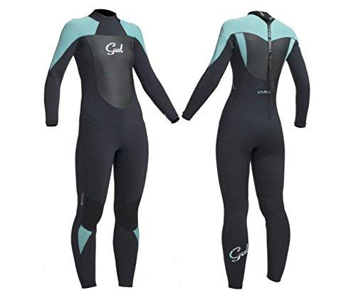 Gul–Camiseta de 5/3mm Traje de Buceo Completo para Surf, Vela, Buceo, Black/Pistachio Response