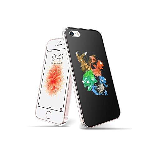 RO&CO YuAPiNY Diseñado para Funda iPhone SE, Funda iPhone 5S, Espalda Modelo Prevención de Golpes Parachoque TPU Carcasa iPhone SE/iPhone 5S / iPhone 5 YuB 008