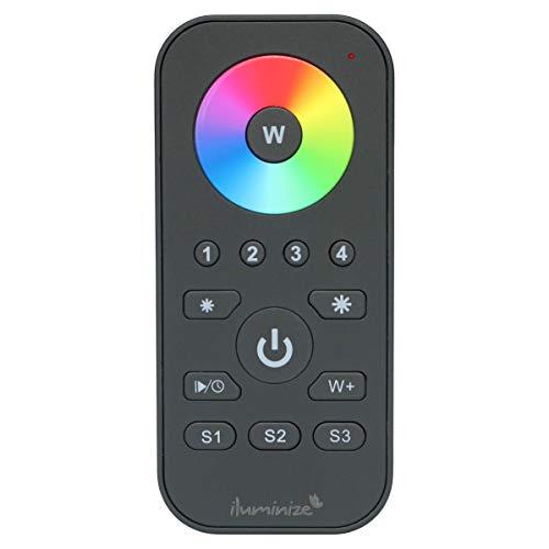iluminize Zigbee 3.0 Fernbedienung Mini mit Touchlink für RGB/RGB+W/RGBW/RGB+CCT LEDs, 4 Zonen (für RGB/RGB+W/RGBW/RGB+CCT LEDs)