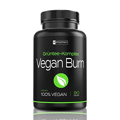 Vegan Burn [Beliebt in der Diät] - Hochdosiert von Experten für Frauen und Männer » mit L-Carnitin, Grüntee Extrakt « F-Burn/Burner Tabletten/Pillen - 90 Kapseln