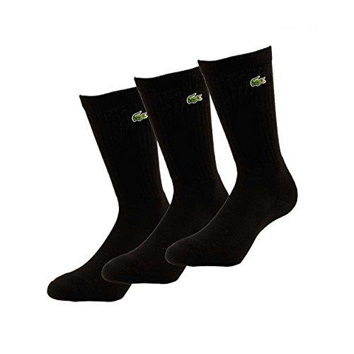 Lacoste Herren Socken Socks 3er Pack, Schwarz, 41-46, 0264280197500063