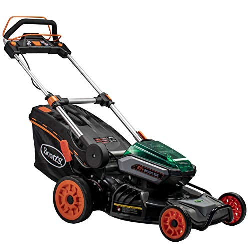 Scotts Outdoor Power Tools 60362S 21-Inch 62-Volt Cordless Self-Propelled Lawn Mower, LED Lights, Batteries, (1) 4Ah, (1) 2.5Ah Batteries & Charger Included