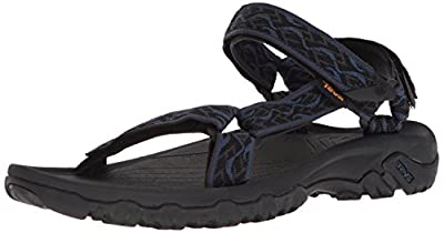 Teva Men's M Hurricane 4 Sport Sandal, Wavy Trail Navy, 11 M US