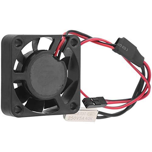 Dilwe Ventilador de refrigeración RC, aleación de Aluminio + plástico Ventilador de refrigeración RC con Asiento de Montaje Aplicación Amplia Pieza de Motor de Coche RC