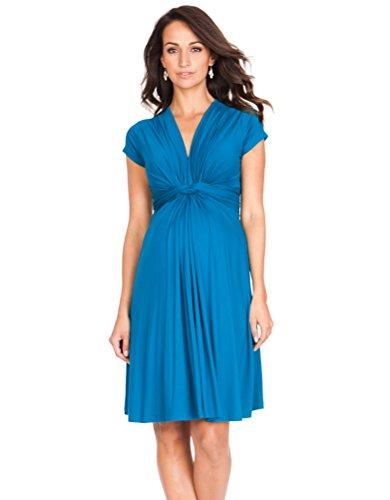 Seraphine Jolene Knot Front Maternity Dress Short Sleeve Seaside(Turquoise) 12