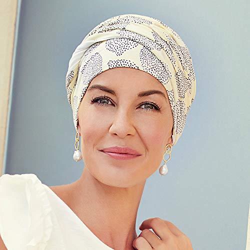 Christine Headwear Gorro Yoga con bambú Estampado Verano para Mujeres en Tratamiento de quimioterapia (Limones de Verano)