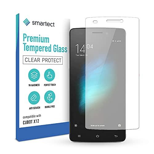 smartect Schutzglas kompatibel mit Cubot X12 - Tempered Glass mit 9H Festigkeit - Blasenfreie Schutzfolie - Anti-Kratzer Bildschirmschutzfolie