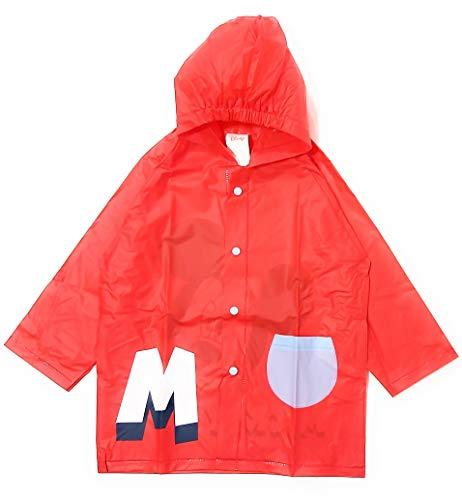 Chubasquero Mickey Mouse para Niños - Impermeable Disney Mickey Mouse Tipo Chaqueta con Capucha y botones (6 - 7 años)