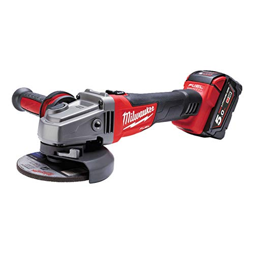 Milwaukee 4933448866 Milwaukee-M18 cag de 125 x/5.0 ah + hd box fuel amoladora de ángulo inalámbrica, 12 W, 12 V, K.a