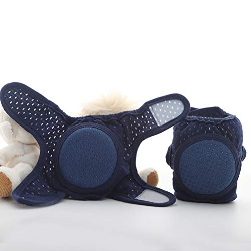 WBTY 1 Paar Baby Krabbeln Anti-Rutsch Ellenbogenschützer Knieschoner Unisex Atmungsaktiv Baby Knieschoner Ellenbogenschützer
