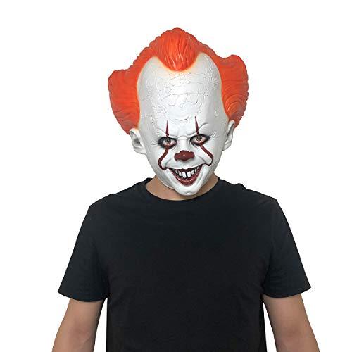Yacn halloween Maschera da clown spaventoso male È costume per uomo maschera da jolly pennywise