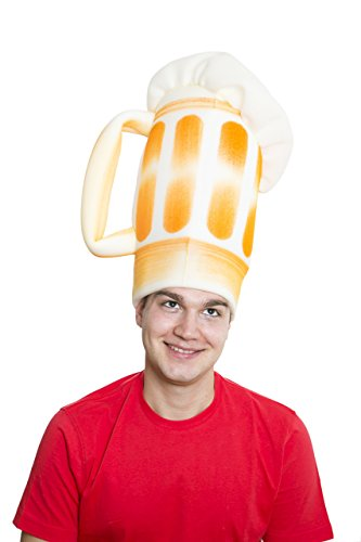 sombrero de gomaespuma jarra de cerveza con espuma