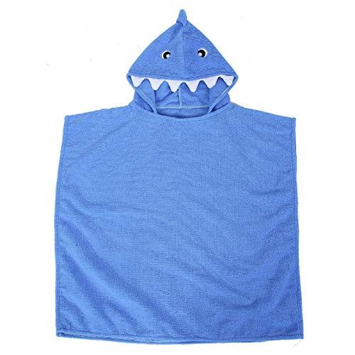 Pwshymi Toalla de baño de bebé con capucha para añadir comodidad (tiburón azul)