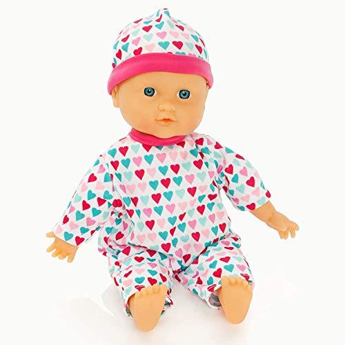 Molly Dolly - Lil' Cuddles Puppe für kleine Mädchen - Geeignet für Kinder ab 12 Monaten - für ihre erste Puppe