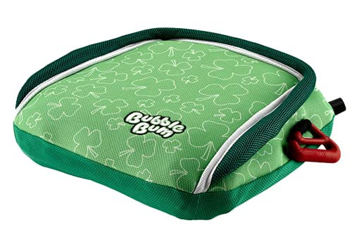 Alzador inflable BubbleBum Para Niños, Grupo 2/3, Verde con Tréboles