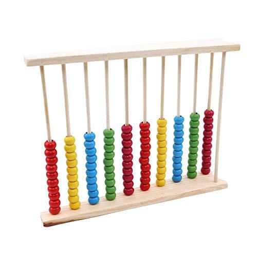 YiYour Kinder Holz Zählen Abakus Bunte Zählrahmen Kinder frühe pädagogische Spielzeug Geschenk