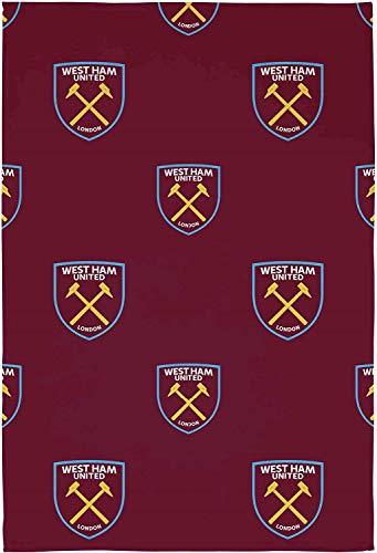 West Ham United Crest Fleece Blanket Throw