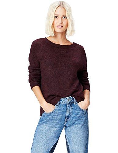Marca Amazon - find. Jersey con Escote a la Espalda para Mujer