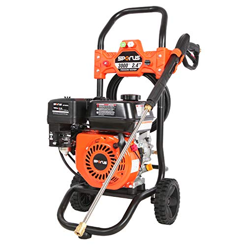 SPERUS Gas Pressure Washer 3000 PSI and 2.4 GPM, 6.5HP Power Washer Gas Powered with Four Nozzle Set, 25ft Hose, CARB Compliant