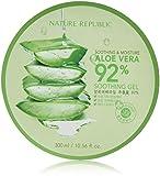 Nature Republic New Soothing Moisture Aloe Vear GEL 92% 300ml Korean Cosmetics by Night Plaza
