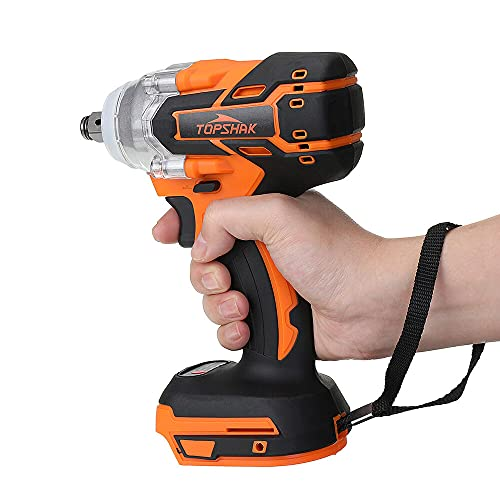 Topshak TS-PW1 Cordless Brushless Impact Wrench Screwdriver Stepless Speed Change Switch For 18V Makita Battery(NO Battery)