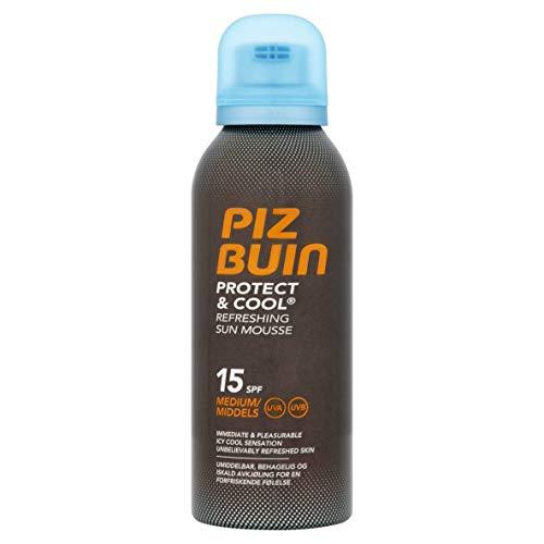 Piz Buin - Proteccion Solar, Protect & Cool Espuma Solar Refrescante SPF 30 - Protección alta Bote 150 ml