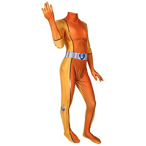 MODRYER Anime Costume Totally Spies Cosplay Mandy Bodysuit Jumpsuit Femmes Filles Super Héros Onesies Lycra Zentai Film Fans Apparel,Orange-Men/L 165~170cm