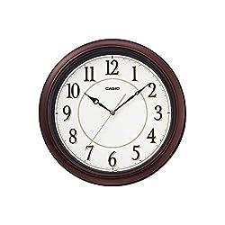 Casio Iq-60-5 Brwon and White Round Analog Wall Clock
