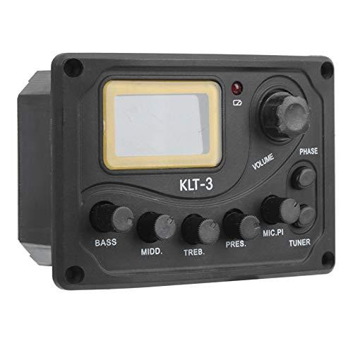 Pastilla de guitarra KLT-3, pastilla de afinador de guitarra, pastilla de ecualizador, control de tono, para accesorio de guitarra afinador de guitarra