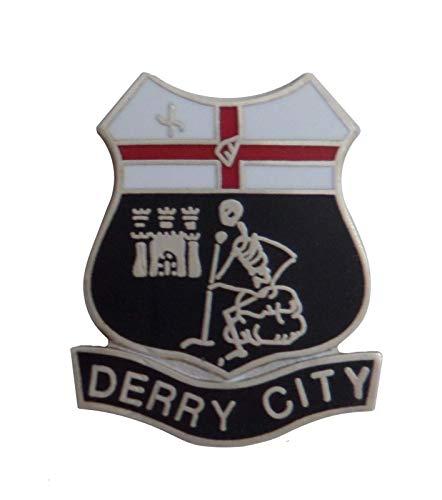 City Derry, Nordirland Brosche Schmetterling-Verschluss (i0811)
