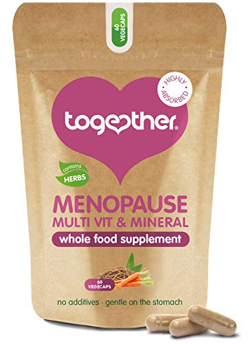 Menopause - Together Health - Multivitamin with Ashwagandha and Sage Extract – Vegan Friendly – Made in The UK – 60 Vegecaps