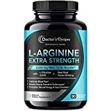 Doctor's Recipes L-Arginine for Men & Women 90 Caps, AAKG, L-Citrulline, Beet Root & Panax Ginseng, 2250 mg High Dose NO Booster for Muscle, Vascularity, Performance, Energy & Heart Health, Non-GMO